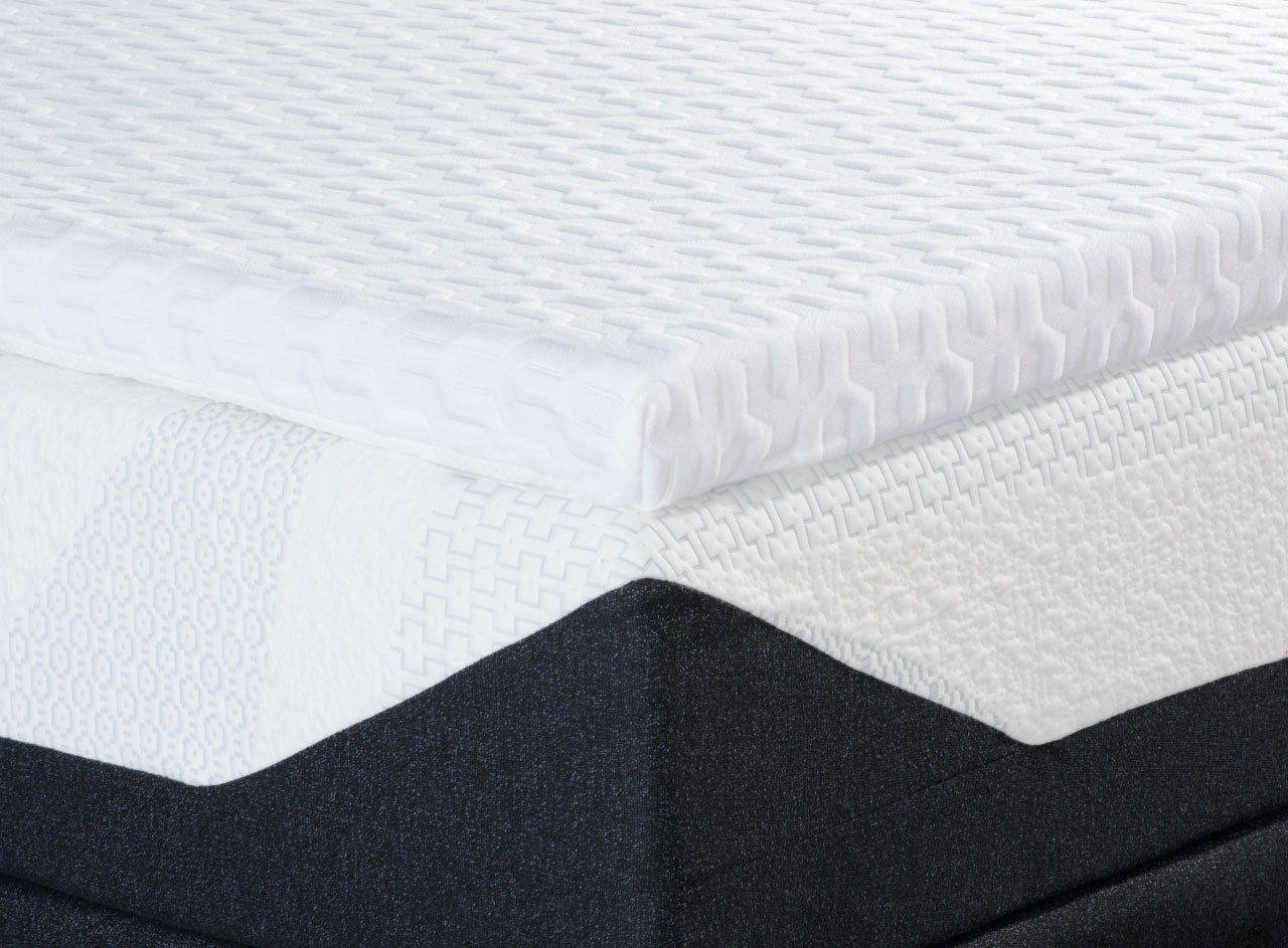 Liquid Gel Memory Foam Mattress Topper Personal Comfort Bed