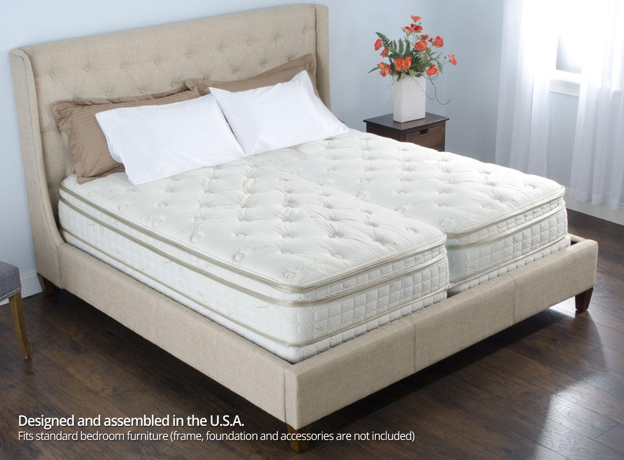 To read more about how to find your Sleep Number, click here. Bed Construction. Enough about numbers, let's talk about what's actually in a Sleep Number bed. Air Chambers. All Sleep Number mattresses come with one or two air chambers.