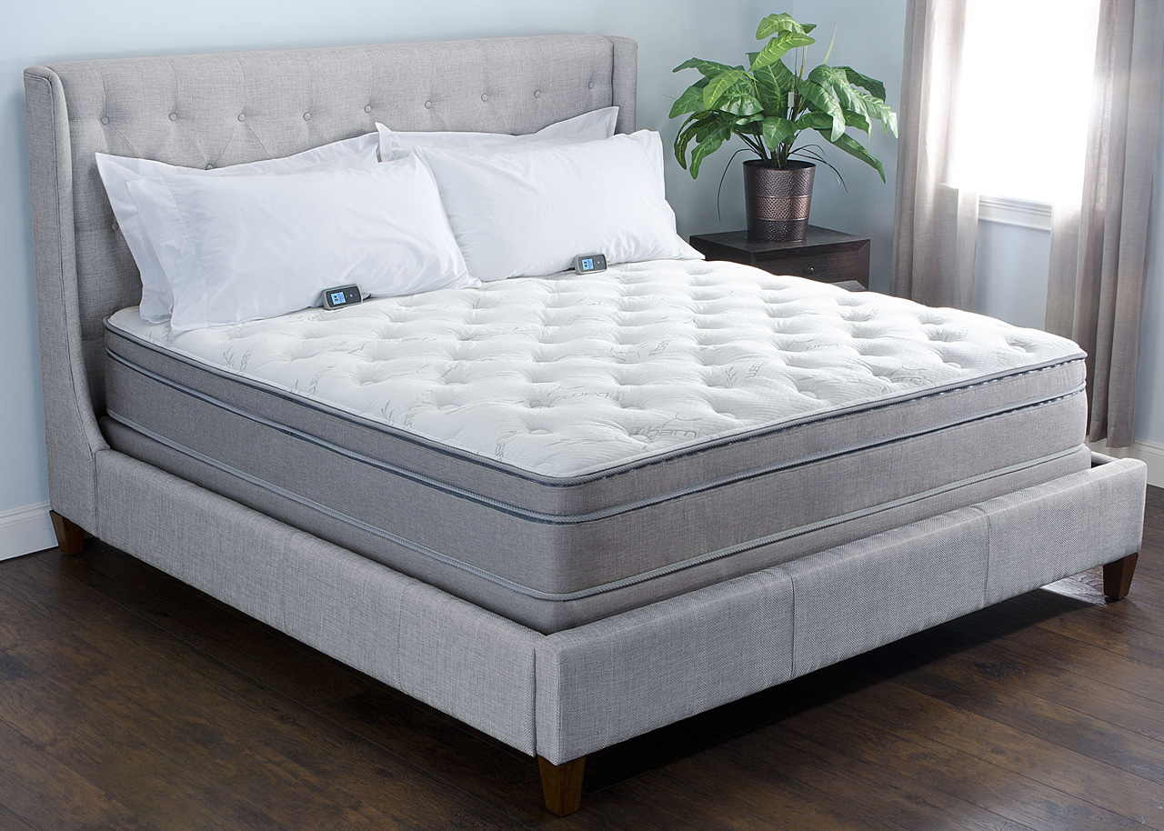 The Air-Pedic™ Series mattress is a 12 inch thick mattress which has a comfortable, yet overall firmer gel-infused combination surface that uses our 6 Chamber, multi-Zone technology for adjustable comfort and separate lumbar support control found in our lower compartment.