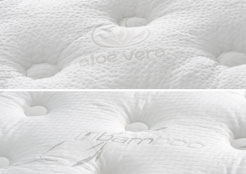 duvet style aloe vera and bamboo top panel mattress cover