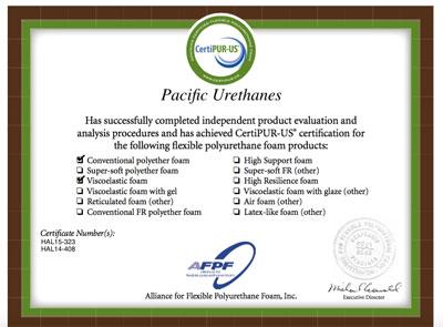 certified foam producer certipur personal comfort