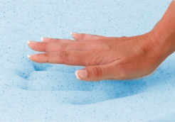 Contouring gel infused visco foam