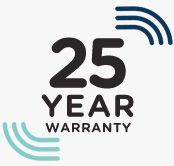 25 Year Limited Lifetime Warranty