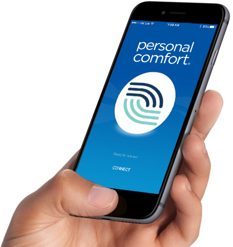 Personal Comfort Bed App for iOS and Android